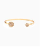 Pave Disc Cuff - Gold