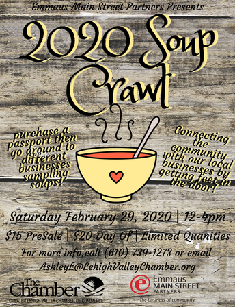 Emmaus Soup Crawl - Feb. 29