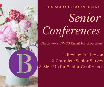 Counselor Conferences- Required for every senior!