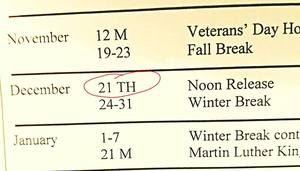 Calendar Clarification
