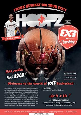 """3x3"" Basketball Program Starts - 3/6"