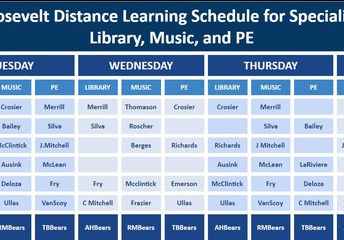 When are Music, Library, and PE?