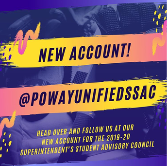 New Social Media Account for Superintendent's Student Advisory Council