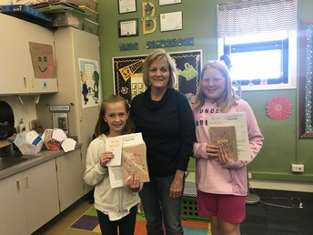 Mrs. Mattive with Annika and Amelia