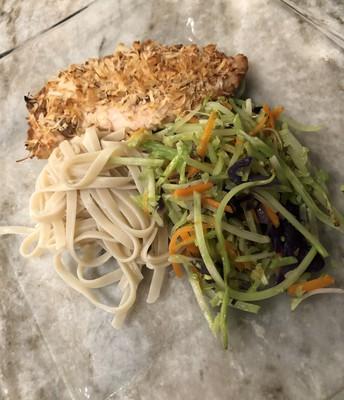 Pad Thai Chicken (recipe by Castaway Kitchen w/twist of Arbonne30 & Michaela)