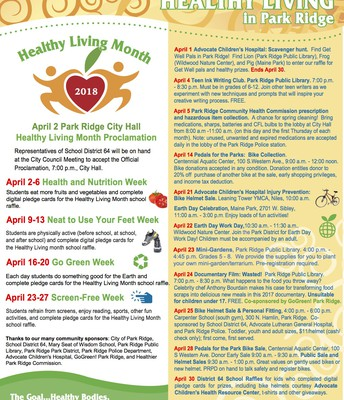 Healthy Living Month Flyer
