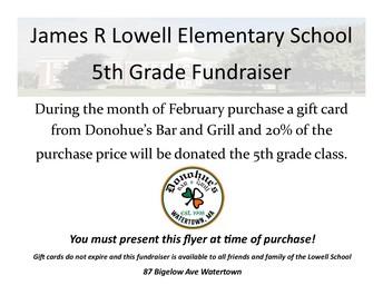 Donahue's Fifth Grade Fundraiser!
