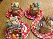 Graham cracker mini-gingerbread houses