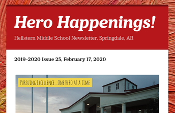 Register for NEXT YEAR's Hero Happenings! Newsletter