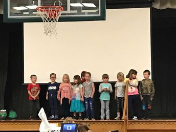 Ms. Bainbridge's class showing their many talents, including singing the alphabet in Spanish!