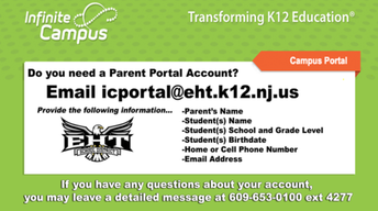 EHT PARENT PORTAL ACCOUNT SET-UP