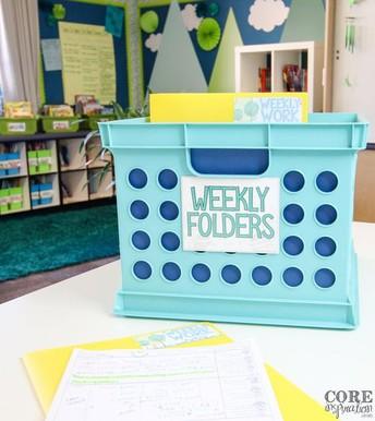 Weekly Folder Organization