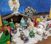 An Entire Nativity Set made with Egg Shells (Cascarones)!!
