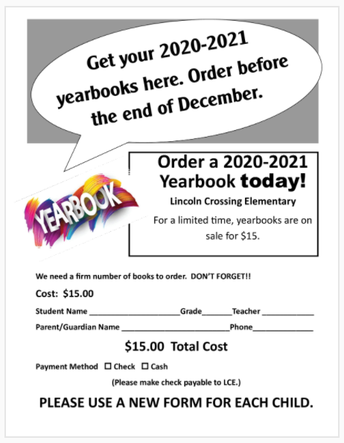 Yearbooks - order by 12/18 to guarantee your copy!