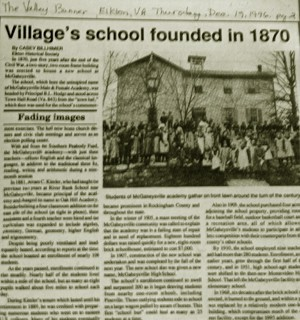 Village's school founded 1870