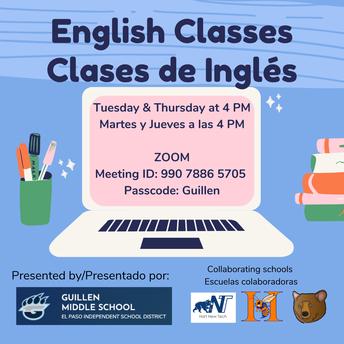 English Classes -- Classes de Inglés