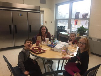 Principal's Table at lunchtime!