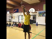 NYO student from Unalakleet demonstrating the 2 foot kick