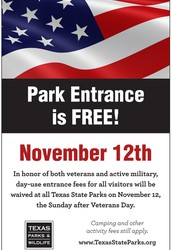 Free Entrance to State Parks on November 12