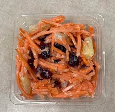 TX harvest of this month was Carrots.  Our cafés made a delicious Carrot Craisin Salad.  Yummy and nutritious.