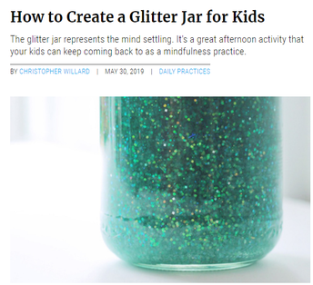 How to Create a Glitter Jar for Mindfulness