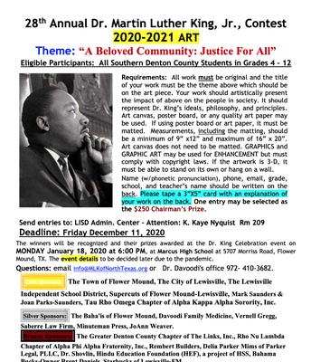 Dr. Martin Luther King, Jr. Art Contest
