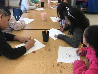 Guided drawing for our ESL kiddos at Wilson