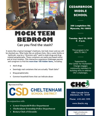 Mock Teen Bedroom