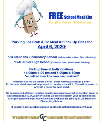School Meal Kits Available