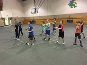PE and Focus and Flexibility paired up for Badminton, hacky sack and Tai Chi!