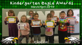 Kindergarten March/April Awards