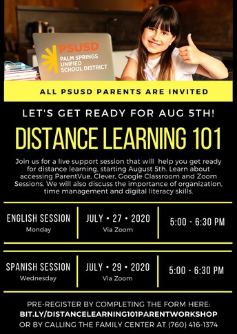 Distance Learning 101 Parent Workshop