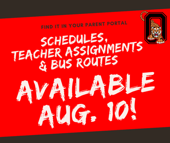 Schedules/Teacher Assignments now available Aug. 10