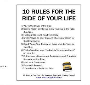 Teacher 10 rules for the ride of your life!