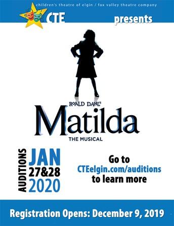 Audiciones para Matilda empisesan el 12/9