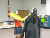 Darth Vader challenges Wonder Woman--and loses!