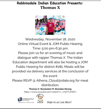Virtual Event! Evening with rapper Thomas X