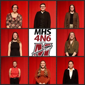MHS Forensics team for placing 1st in the Large Team Division