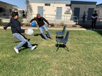 Balloon Bust Relay Race