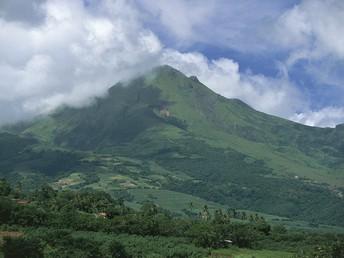 Mount Pelee is an active volcano