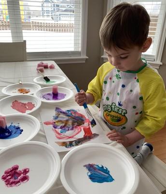 Preschool painting 101