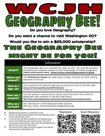 WCJH Geography Bee!