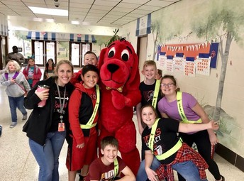 Clifford the Big Red Dog comes to East Knox with the Book Fair