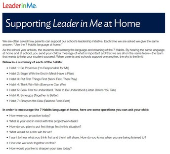 Supporting Leader in Me