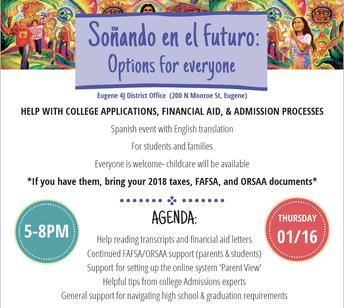 Soñando en el futuro - Help with college applications, financial aid & admissions  processes