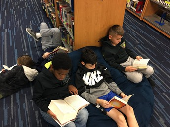 GTMS students enjoying kick back and read time!