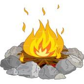 A nice warm fire!