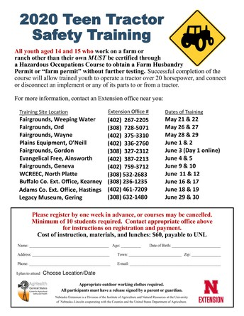 2020 Tractor Safety Courses