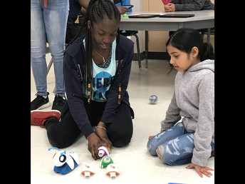 Coding Robots at the Technology Station