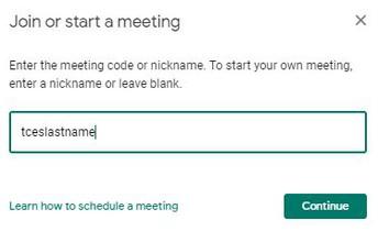 Enter Meeting Nickname